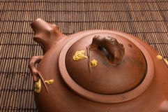 brown Chinese teapot Royalty Free Stock Photography
