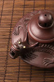 Brown Chinese teapot Royalty Free Stock Images