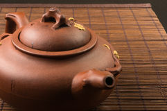 Brown Chinese teapot Stock Photo