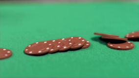 Brown chips falling in super slow motion stock footage