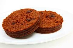 Brown chleb Na talerzu Zdjęcie Royalty Free