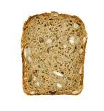 Brown chleba plasterka odosobniony biały tło Obraz Stock