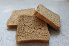 Brown chleba plasterki Zdjęcia Royalty Free
