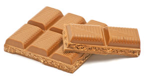 Brown chocolate. On white background Royalty Free Stock Photos