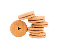 Brown chocolate biscuits Stock Image