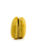 Brown and chocolate cake macaron on white background, maccarone sweet dessert Royalty Free Stock Photos