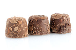 Brown chocolate candies Royalty Free Stock Photos