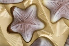 Brown chocolate candy close up Royalty Free Stock Photo