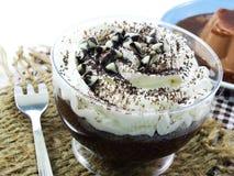 Brown chocolate cupcake with chocolate sprinkles Royalty Free Stock Photo