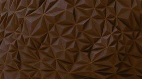 Brown chocolate geometric wall vector BG Royalty Free Stock Photos