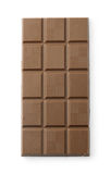 Brown chocolate tablet Royalty Free Stock Image