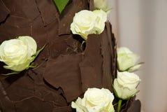 Brown chocolate wedding cake Royalty Free Stock Photography