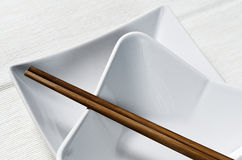 Brown chopsticks Obrazy Royalty Free
