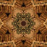 Brown Christmas Abstract Mandala Kaleidoscope texture Royalty Free Stock Images