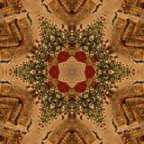 Brown Christmas Abstract Mandala Kaleidoscope texture Stock Photography