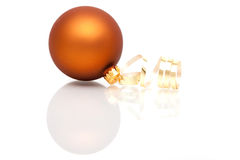 Brown Christmas bauble Royalty Free Stock Images