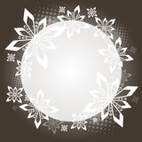 Brown Christmas circle Royalty Free Stock Image