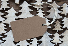 Brown Christmas Label With Copy Space Stock Photos