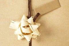 Brown christmas present. Stock Photo