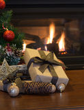 Brown Christmas Present Stock Photos