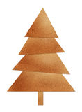 Brown christmas tree Stock Image