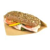 Brown ciabatta sandwich. Stock Photography