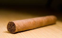 Brown Cigar on the Table stock images