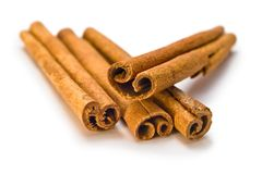Brown cinnamon sticks Royalty Free Stock Photos