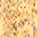 Brown, cinza e teste padrão sem emenda geométrico alaranjado do pêssego Textura poligonal futurista Imagens de Stock Royalty Free