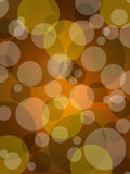 Brown circle with light bokeh. On gradient background Royalty Free Stock Photos