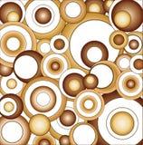 brown circles psychedelic Στοκ Φωτογραφίες
