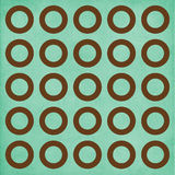 Brown Circles on Teal Background Royalty Free Stock Images