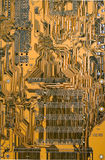 Brown circuit board Stock Photography