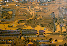 Brown circuit board Stock Images
