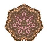 Brown circular pattern background. Stock Photo