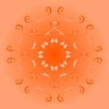 Brown circular tracery Royalty Free Stock Photography