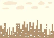 Brown city Stock Image