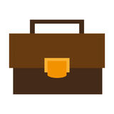 brown classic briefcase ,  illustration Royalty Free Stock Photography