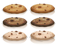 Brown Classic And Chocolate Cookies Stock Images