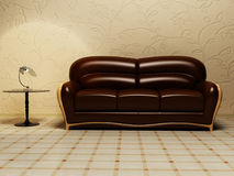 Brown classic sofa Royalty Free Stock Images