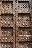 Brown clavó la puerta Fotografía de archivo