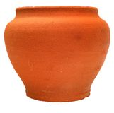 Brown Clay Flowerpot Stock Image