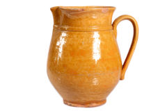 Brown clay jug Royalty Free Stock Images