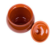 The brown clay pot Stock Image