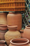 Brown clay pot Royalty Free Stock Image