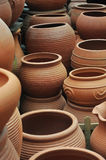 Brown clay pot Royalty Free Stock Photo