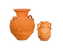 Brown clay pottery Stock Photo