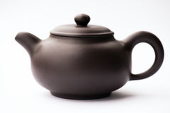 Brown clay teapot 2 Stock Images