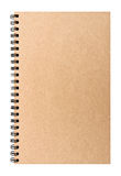 Brown clear notebook Royalty Free Stock Photos