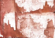 Brown cliffs abstract wash drawing picture Stock Image